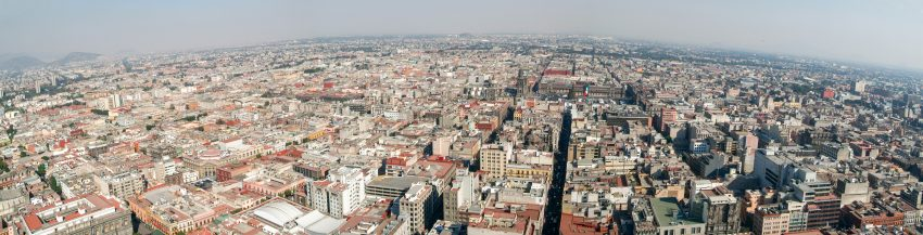 Amazing Mexico. Aerial view of Mexico City, Mexico