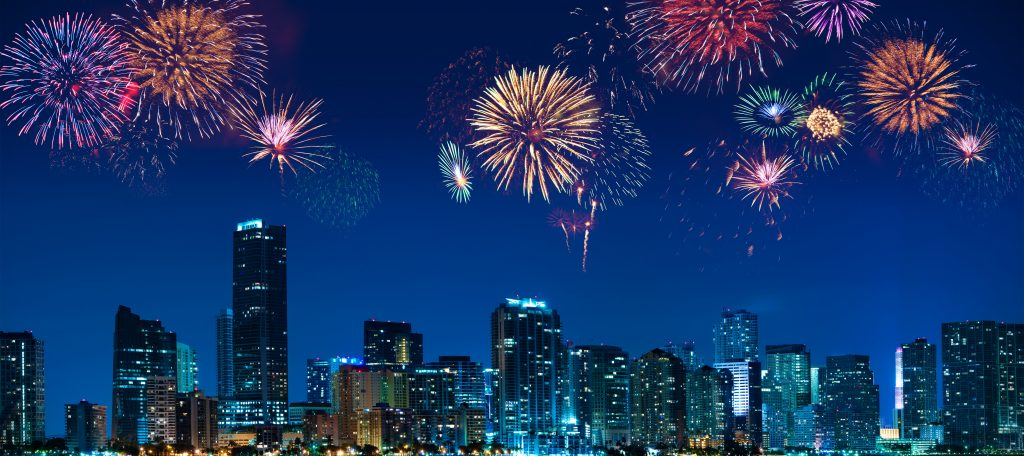 The Best US cities to Celebrate New Year. Miami.