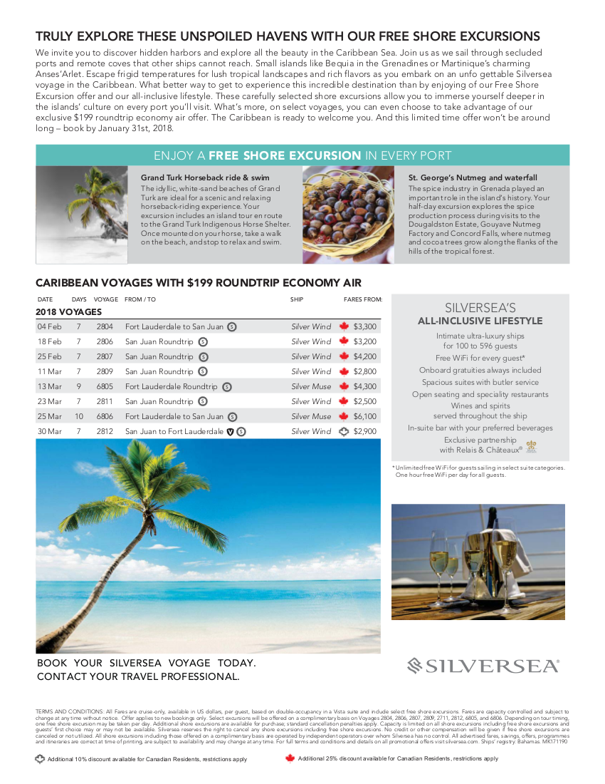 Discover Caribbean with Silversea