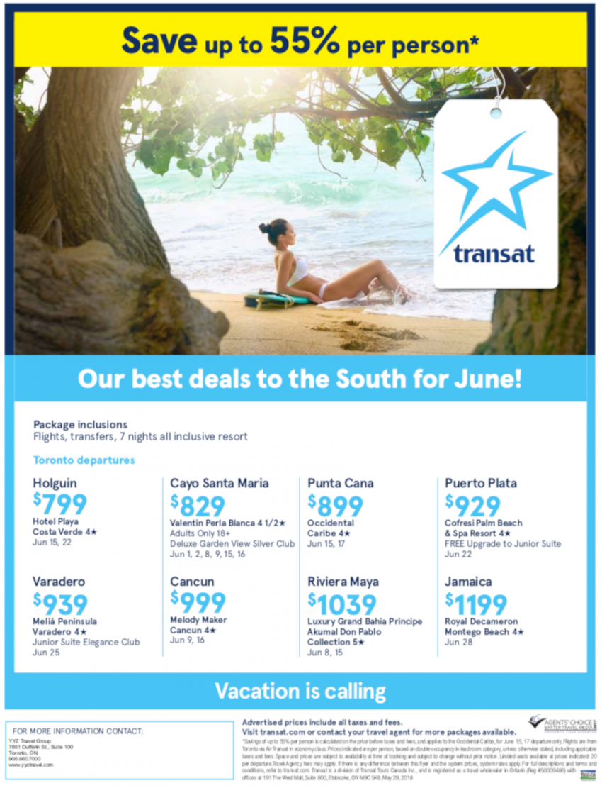 Great Prices for Vacations in June