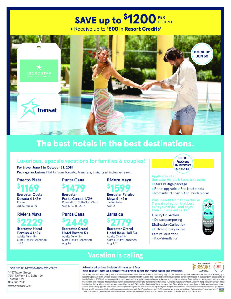 Iberostar Hotels Now on Sale