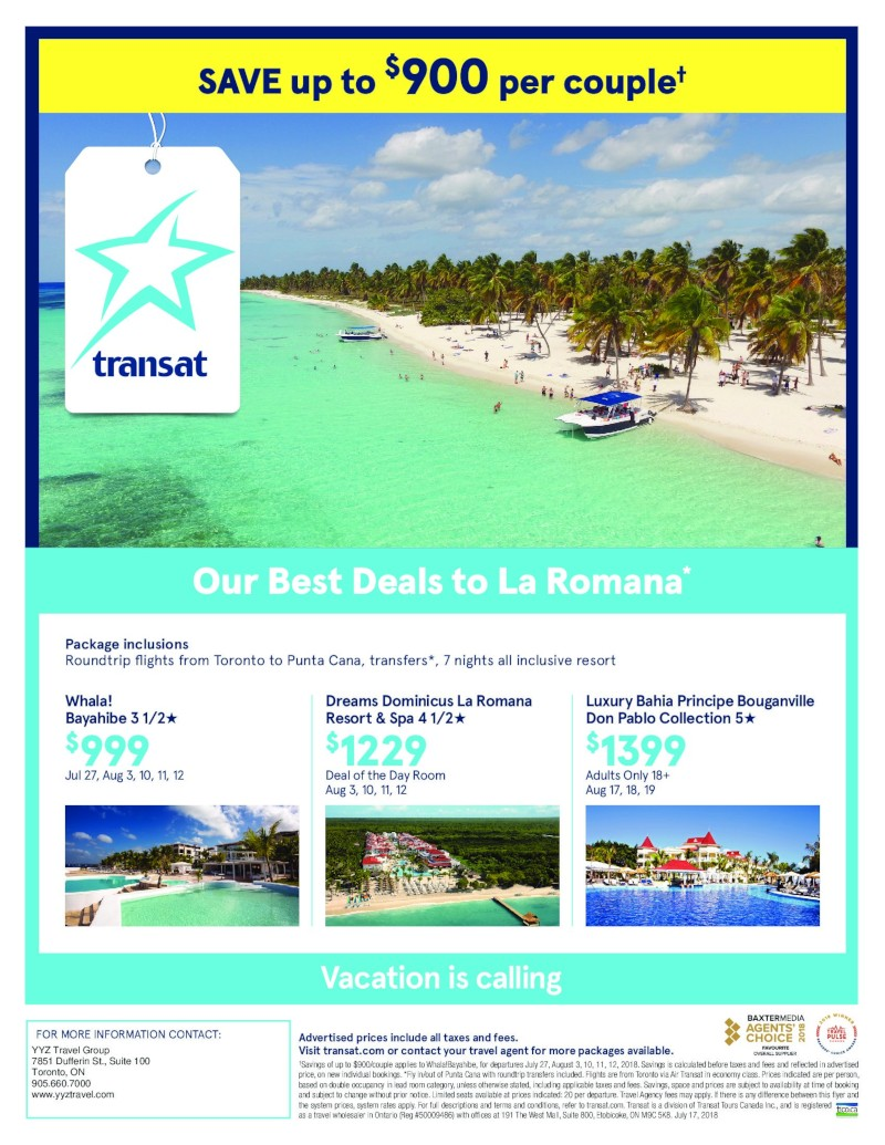 La Romana now on Sale from $999