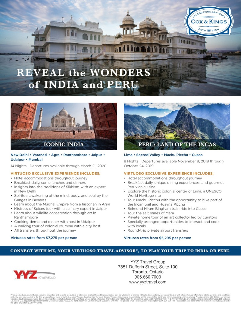 Reveal the Wonders of India and Peru