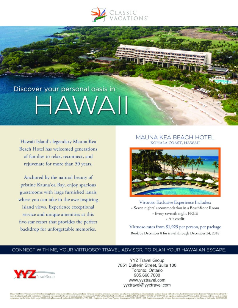 Discover your personal oasis in HAWAII