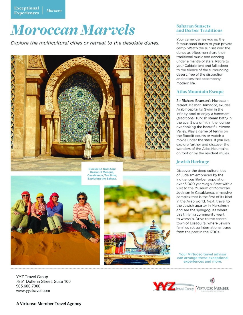Exceptioonal Experiences Morocco - Moroccan Marvels - Explore the multicultural cities or retreat to the desolate dunes