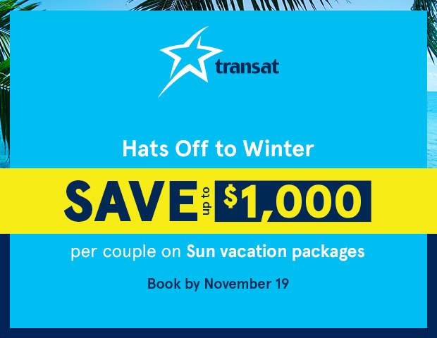 Save $1000 per couple on Sun vacation packages
