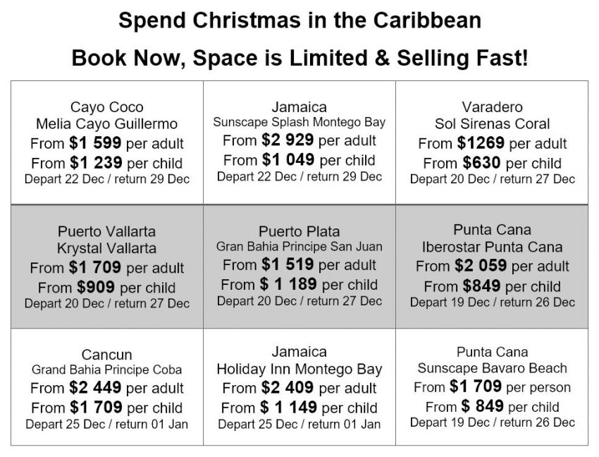 Christmas Vacations still available