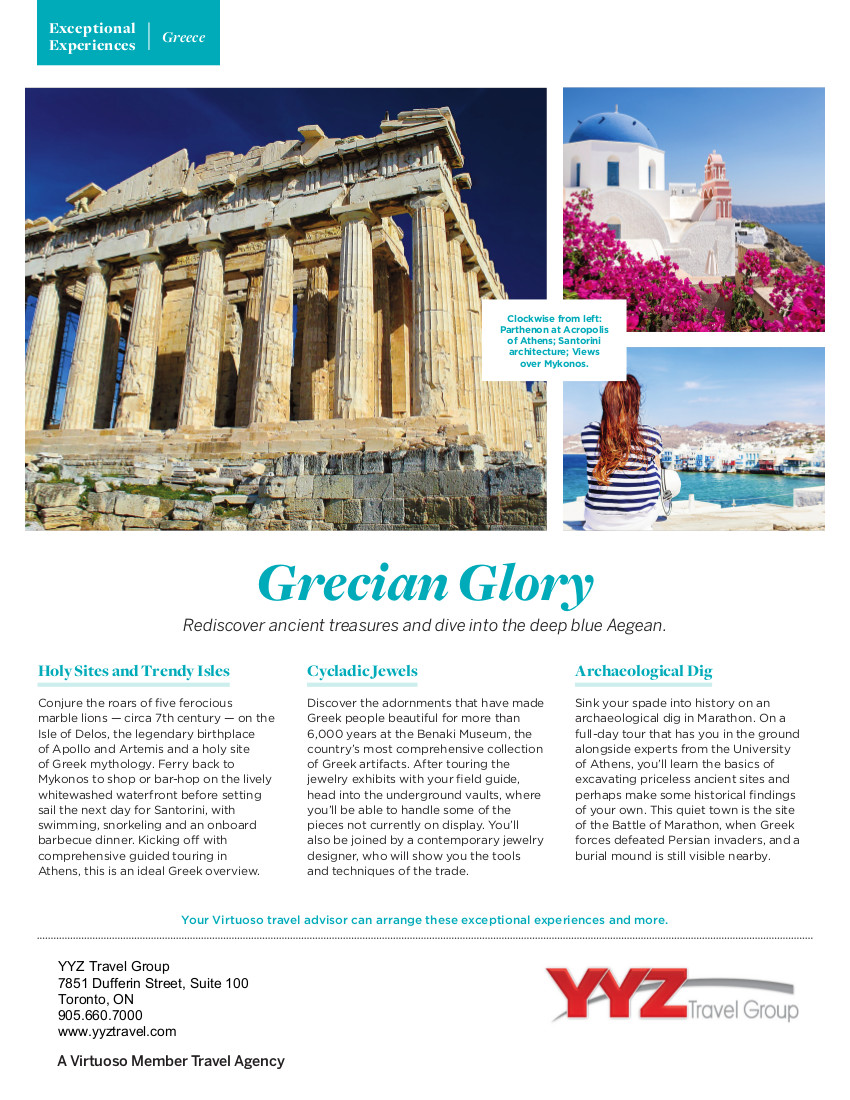 Grecian Glory | Exeptional Travel Experience