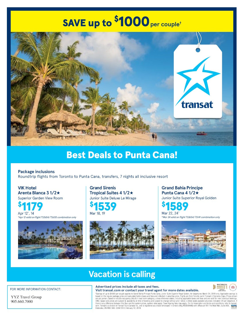 Best Deals to Punta Cana