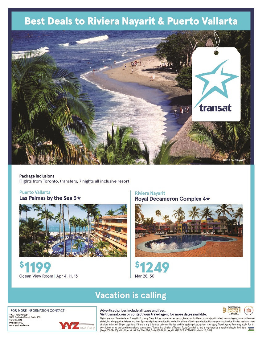 Best deals Puerto Vallarta and Riviera Nayarit