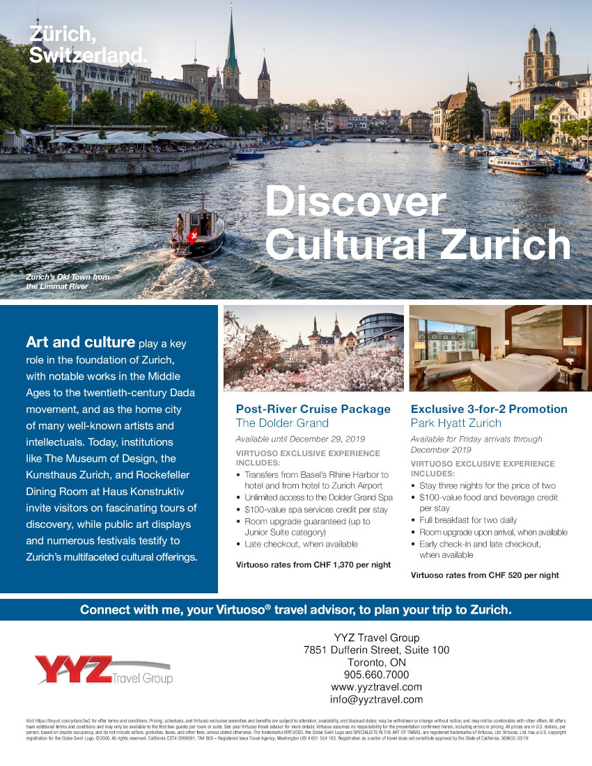 Discover Cultural Zurich | Virtuoso Exclusive