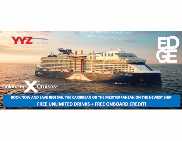 Celebrity X Cruises Free Unlimited Drinks and Free Onboard Credit