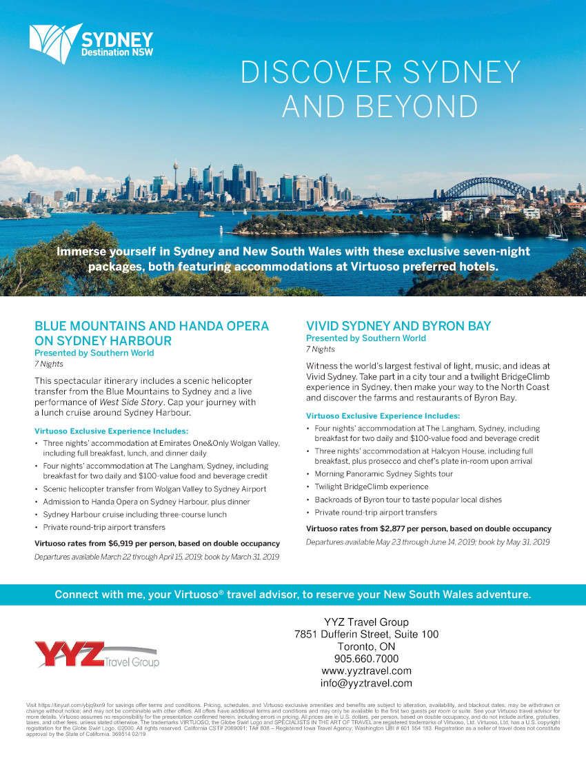 Discover Sydney and Beyond | Virtuoso Exclusive Experience