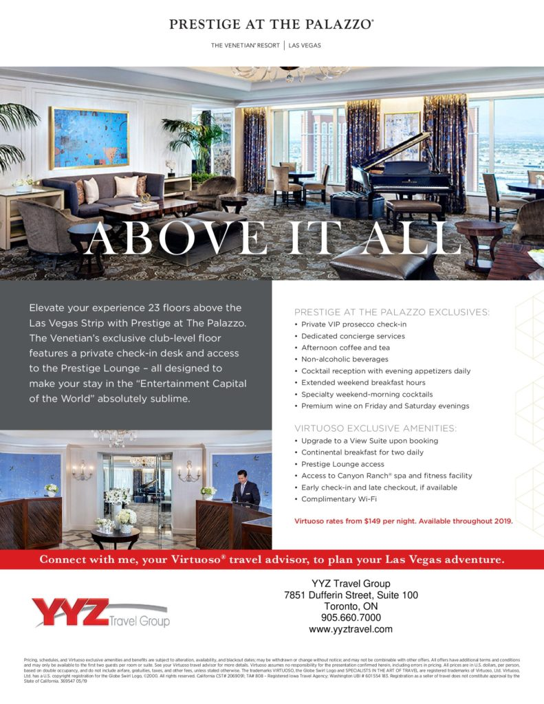 Prestige At The Palazzo Virtuoso Exclusive Amenities