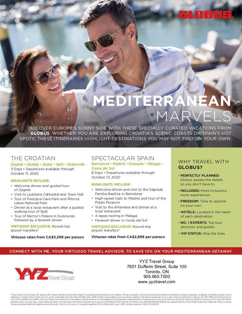 Mediterranean Marvels with Globus vacations