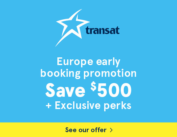 Europe early booking promotion. Save $500