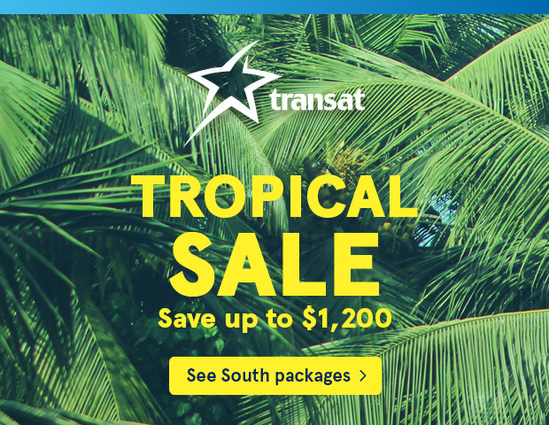 transat tropical sale save up to $1200
